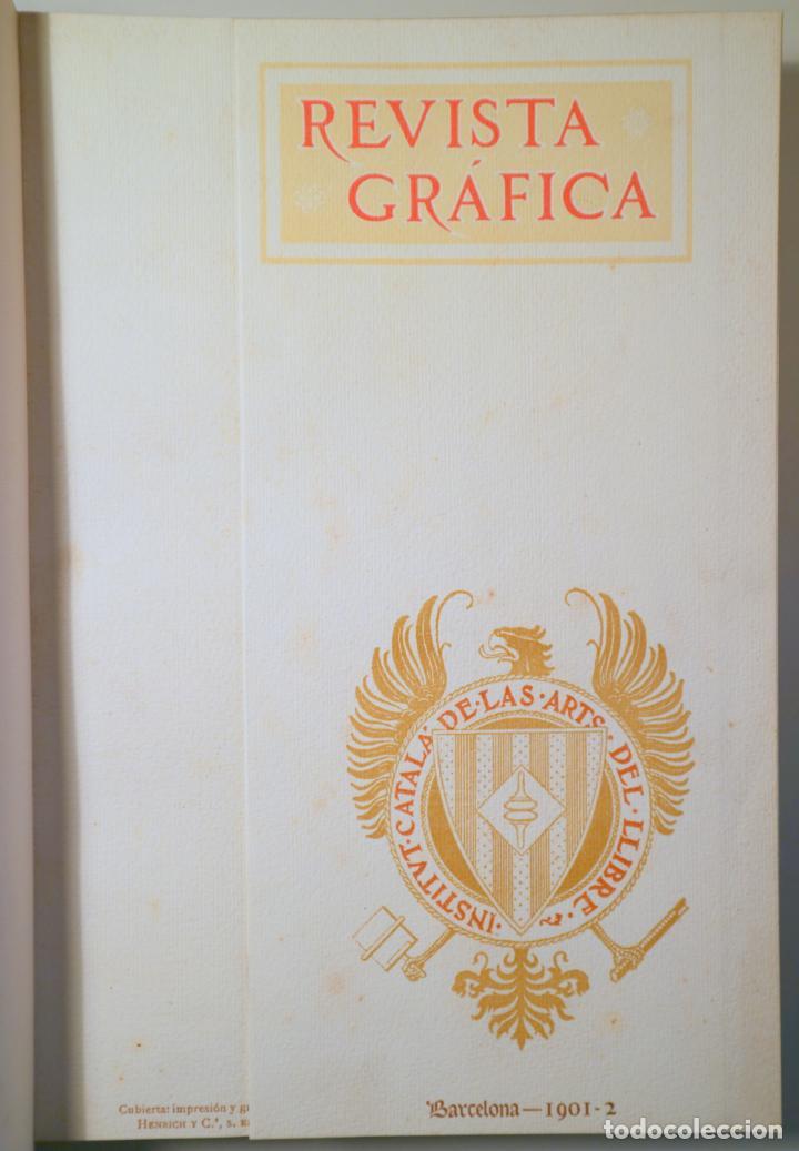 Libros antiguos: INSTITUT CATALÀ DE LES ARTS DEL LLIBRE. REVISTA GRÀFICA 1901-2 - Barcelona 1902 - Il·lustrat - Edici - Foto 3 - 260855865