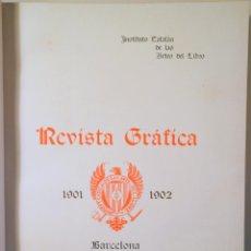 Libros antiguos: INSTITUT CATALÀ DE LES ARTS DEL LLIBRE. REVISTA GRÀFICA 1901-2 - BARCELONA 1902 - IL·LUSTRAT - EDICI. Lote 260855865