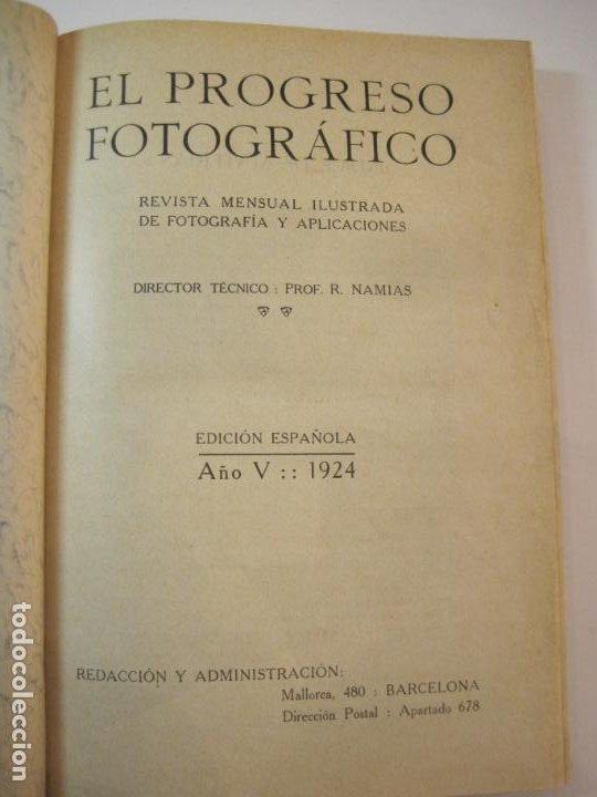 Libros antiguos: EL PROCESO FOTOGRAFICO-AÑO 1924-REVISTA ILUSTRADA-VER FOTOS-(V-22.751) - Foto 8 - 261849130