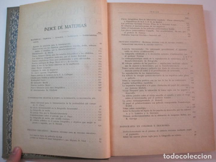 Libros antiguos: EL PROCESO FOTOGRAFICO-AÑO 1924-REVISTA ILUSTRADA-VER FOTOS-(V-22.751) - Foto 9 - 261849130