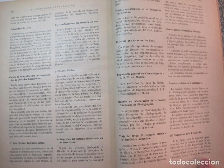Libros antiguos: EL PROCESO FOTOGRAFICO-AÑO 1924-REVISTA ILUSTRADA-VER FOTOS-(V-22.751) - Foto 46 - 261849130