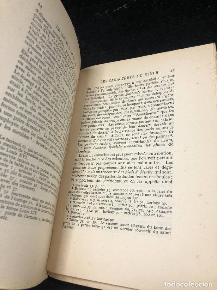 Libros antiguos: Le meuble français sous Louis XV Roger de FELICE. HACHETTE, 1926 ilustrado. En francés. - Foto 8 - 264313736