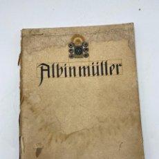 Libros antiguos: OBRAS DE EXPOSICION DE DARMSTADT 1914 Y OTRAS OBRAS BASADAS EN DISEÑOS DEL PROFESOR ALBIN MÜLLER. Lote 267911934