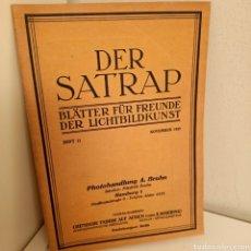 Libros antiguos: REVISTA DER SATRAP, BLÄTTER FÜR FREUNDE DER LICHTBILDKUNST, HEFT.11, NOVEMBRE 1925, FOTOGRAFIA. Lote 269110773