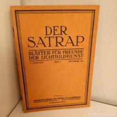 Libros antiguos: REVISTA DER SATRAP, BLÄTTER FÜR FREUNDE DER LICHTBILDKUNST, 2. JARRGANG, HEFT. 9, SEPTEMBER 1926. Lote 269112273