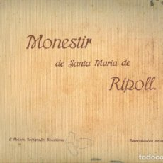 Libros antiguos: NUMULITE L0938 MONESTIR DE SANTA MARIA DE RIPOLL L. ROISIN 16 FOTOGRAFÍAS L. ROISIN. Lote 277110018