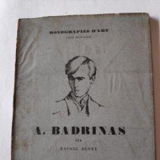 Libros antiguos: MONOGRAFIES ANTONI BADRINAS. Lote 293252508