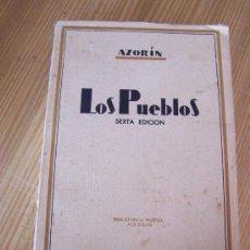Libros antiguos: LOS PUEBLOS, ENSAYO SOBRE LA VIDA PROVINCIANA-AZORÍN-1935-BIBLIOTECA NUEVA.- MAD.. Lote 15756108