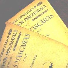 Libros antiguos: OBRAS COMPLETAS DE RAMON PEREZ DE AYALA, ENSAYOS, DOS TOMOS, AÑO 1924.. Lote 27359854