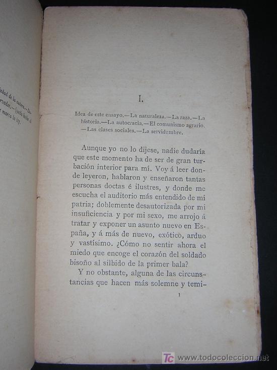 Libros antiguos: 1887 - EMILIA PARDO BAZAN - LA REVOLUCION Y LA NOVELA EN RUSIA - 2 TOMOS - PRIMERA EDICION - Foto 3 - 42012158