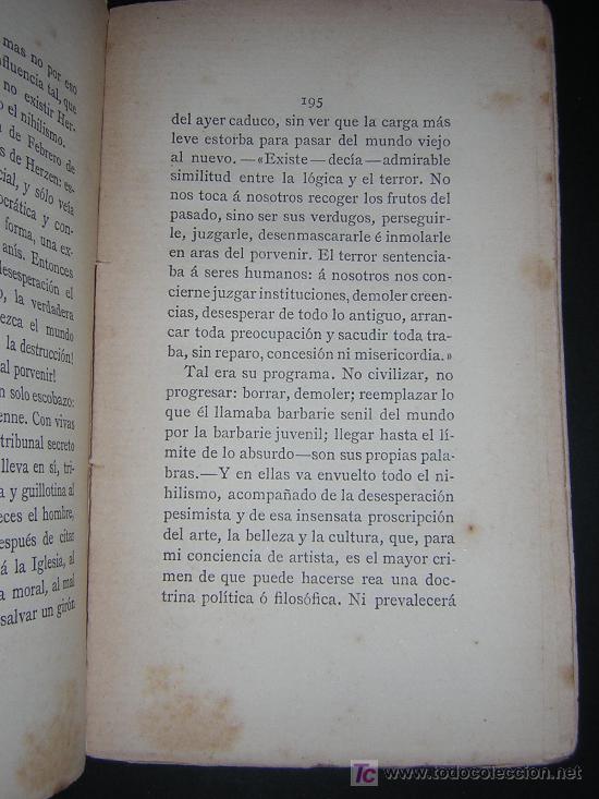 Libros antiguos: 1887 - EMILIA PARDO BAZAN - LA REVOLUCION Y LA NOVELA EN RUSIA - 2 TOMOS - PRIMERA EDICION - Foto 5 - 42012158