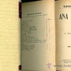 Libros antiguos: LEON TOLSTOY. ANA KARENINE. 2 VOLS. BARCELONA, 1911.. Lote 30168808