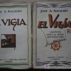 Libros antiguos: EL VIGÍA. TOMO I: ENSAYOS. TOMO II: ENSAYOS. BALSEIRO (JOSÉ A.). Lote 21206587