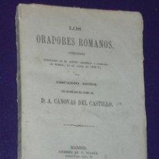Libros antiguos: LOS ORADORES ROMANOS.(1883). Lote 20025101