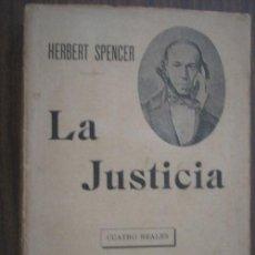 Libri antichi: LA JUSTICIA. SPENCER, HERBERT. F. SEMPERE Y COMPAÑÍA. Lote 18658592