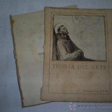 Libros antiguos: TEORÍA DEL ARTE R. P. ANTONIO TORRÓ, O. F. M. BIBLIOTECA FRANCISCANA, 1927 RM48572. Lote 23879294