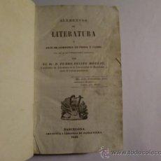 Libros antiguos: ELEMENTOS DE LITERATURA O ARTE DE COMPONER EN PROSA Y VERSO.. Lote 24119808