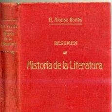 Libros antiguos: ALONSO CORTÉS : HISTORIA DE LA LITERATURA (1919) . Lote 26070610