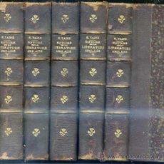 Libros antiguos: H. TAINE : HISTOIRE DE LA LITTÉRATURE ANGLAISE - CINCO TOMOS (HACHETTE, 1892). Lote 29440275