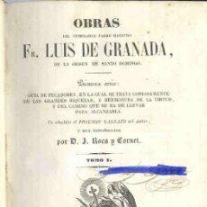 Libros antiguos: 1845: FRAY LUIS - GUÍA DE PECADORES. Lote 29547911