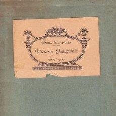 Libros antiguos: ATENEU BARCELONÈS. 1928-29 I 1929-30. DISCURSOS INAUGURALS X PERE COROMINAS.. Lote 30668246