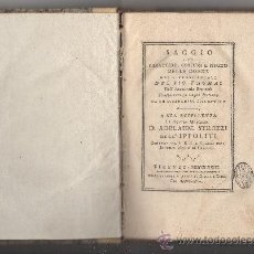 Libros antiguos: SAGGIO SUL CARATTERE, COSTUMI E SPIRITO DELLE DONNE NEI DIVERSI SECOLI. (ANNO 1773).. Lote 30837107