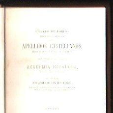 Libros antiguos: ENSAYO HISTÓRICO APELLIDOS CASTELLANOS, ANGEL DE LOS RÍOS Y RÍOS, MADRID, BAILLY-BAILLIERE, 1870. Lote 30981372