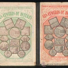 Libros antiguos: LOS CENTROS DE INTERES - 2 TOMOS A-ESC-1240. Lote 31945256