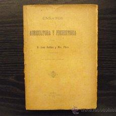 Libros antiguos: ENSAYO DE AGRICULTURA Y PREHISTORIA, JOSE RULLAN Y MIR, SOLLER. Lote 37166163