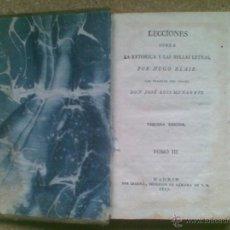 Libros antiguos: LECCIONES SOBRE LA RETÓRICA Y LAS BELLAS LETRAS.T III (1817) / HUGO BLAIR. IMPRESOR IBARRA. Lote 39527388