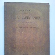 Alte Bücher - DISCURSO LEÍDO ANTE LA REAL ACADEMIA ESPAÑOLA DE D. LEÓN GALINDO Y DE VERA. 1875. RARO - 40020438