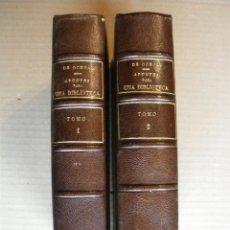 Libros antiguos: APUNTES PARA UNA BIBLIOTECA. EUGENIO DE OCHOA. Lote 40257843