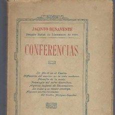 Libros antiguos: JACINTO BENAVENTE, CONFERENCIAS, MADRID LIB. DE LOS SUCESORES DE HERNANDO 1924, RÚSTICA. Lote 40574243