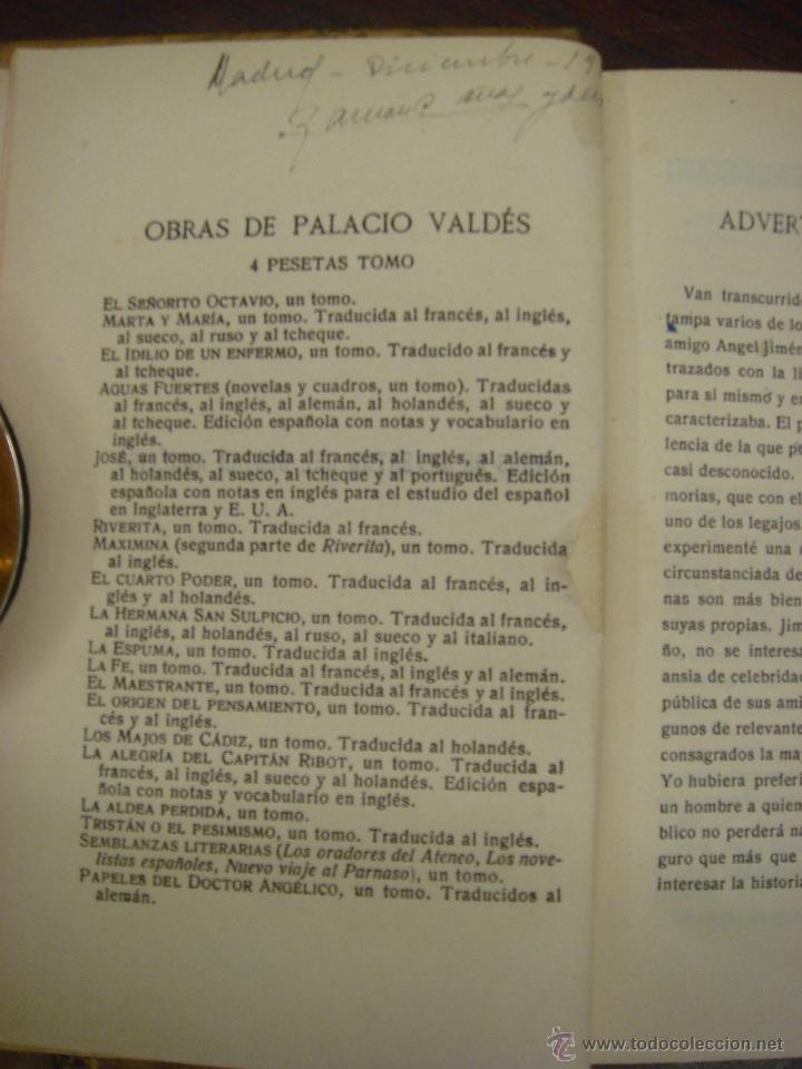 Libros antiguos: AÑOS DE JUVENTUD DEL DOCTOR ANGELICO. A. PALACIO VALDES. 1918?. LIBRERIA VICTORIANO SUAREZ - Foto 4 - 43204067