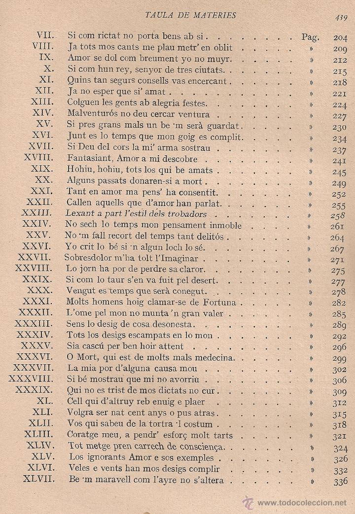 Libros antiguos: Les obres dAuzias March. Edicio critica. Vol. 1 / A. Pages. BCN : IEC, 1912. 26x19cm. 442 p.Ausias - Foto 6 - 43296249