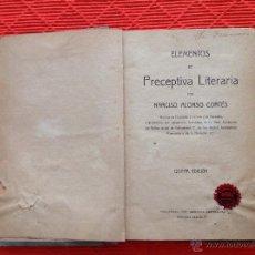 Libros antiguos: ELEMENTOS DE PRECEPTIVA LITERARIA. Lote 49106695