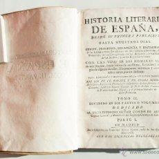 Libros antiguos: HISTORIA LITERARIA DE ESPAÑA, DESDE SU PRIMERA POBLACIÓN... TOMO II, PARTE I. MADRID, 1768. Lote 49274626