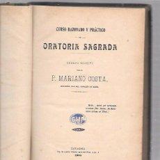 Libros antiguos: ORATORIA SAGRADA. P. MARIANO COSTA. ZARAGOZA, 1904. Lote 50030904