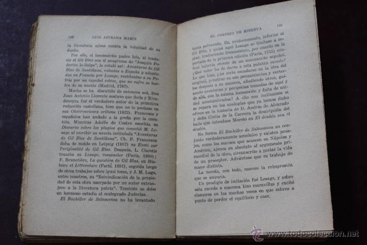Libros antiguos: L- 1777. EL CORTEJO DE MINERVA. LUIS ASTRANA MARIN. 1º EDICION. - Foto 5 - 50243909
