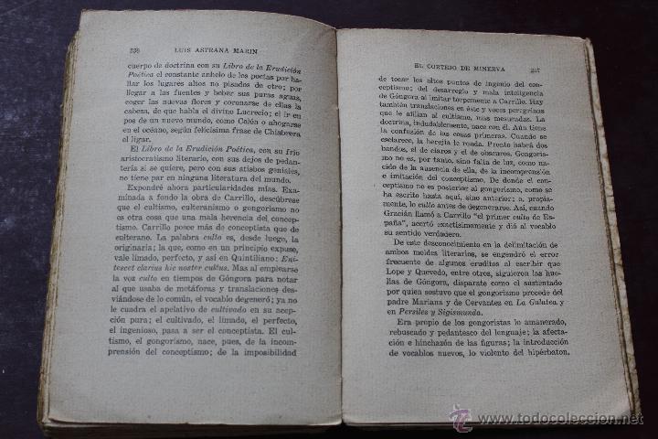 Libros antiguos: L- 1777. EL CORTEJO DE MINERVA. LUIS ASTRANA MARIN. 1º EDICION. - Foto 7 - 50243909
