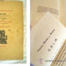 Livres anciens: SAN FRANCISCO, CERVANTES Y VALENCIA. MARTÍNEZ Y MARTÍNEZ FRANCISCO. 1919. Lote 50256637