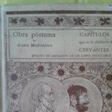 Libros antiguos: CAPITULOS QUE SE LE OLVIDARON A CERVANTES. Lote 52746435