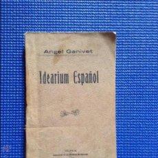 Libros antiguos: IDEARIUM ESPAÑOL ANGEL GANIVET 1906. Lote 54590722