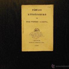 Libros antiguos: FABULAS LITERARIAS, TOMAS IRIARTE, 1855. Lote 54745354