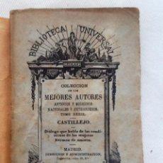 Libros antiguos: DIALOGO SOBRE LAS MUJERES. 1878. CRISTOBAL DE CASTILLEJO. COLECCION DE LOS MEJORES AUTORES TOMO XXXI. Lote 55004573
