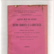 Libros antiguos: ALGUNAS IDEAS DEL QUIJOTE APLICADAS A LA DOCTRINA FUNDAMENTAL DE LA ADMINISTRACION POR LLORE. Lote 56336606