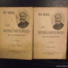 Libros antiguos: LAS MENTIRAS CONVENCIONALES DE LA CIVILIZACION, MAX NORDAU. Lote 56741612