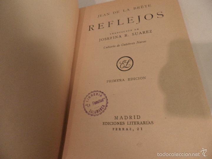 Libros antiguos: Reflejos. Novela. Traducción de Josefina R. Suarez. 1ª EDICION - JEAN DE LA BRETE, BIBLIOTECA HOGAR - Foto 2 - 56861007
