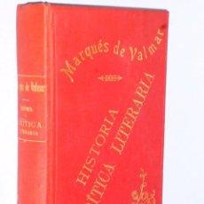Libros antiguos: ESTUDIOS DE HISTORIA Y DE CRÍTICA LITERARIA . Lote 56972541