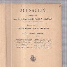 Libros antiguos: MADRID,CRIMEN DE LA CALLE FUENCARRAL,1889,LIBRO DE ÉPOCA SOBRE EL HECHO,MUY RARO. Lote 58125772